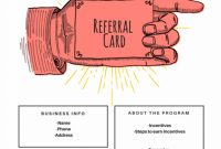 Examples Of Referral Card Ideas And Quotes That Work in Referral Certificate Template
