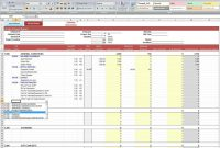Excel Report Template  Template Business with Job Cost Report Template Excel