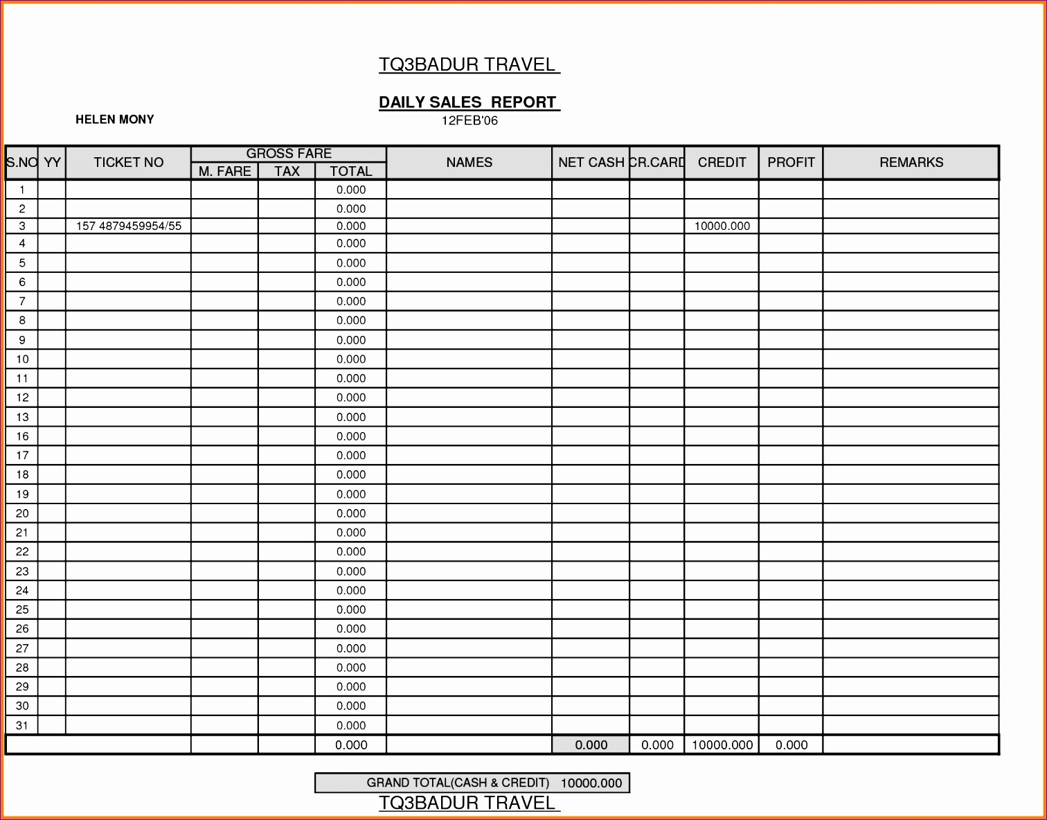 Excel Sales Report Template For Daily Exceltemplates And Regarding Excel Sales Report Template Free Download