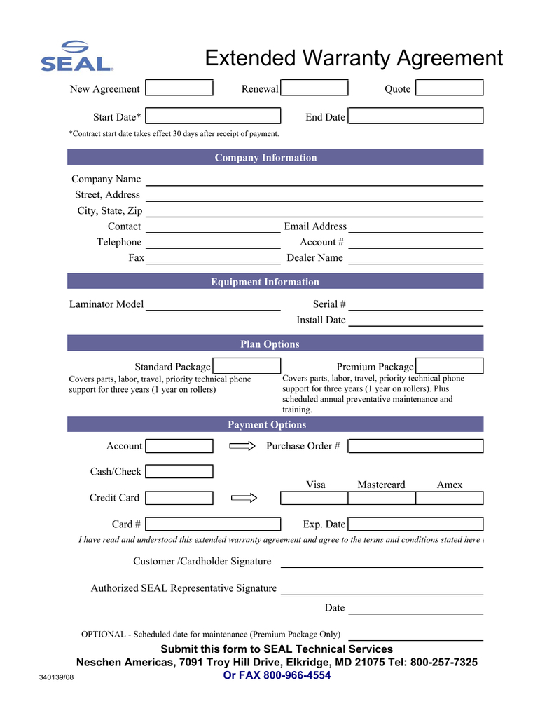 Extended Warranty Agreement Pertaining To Extended Warranty Agreement Template