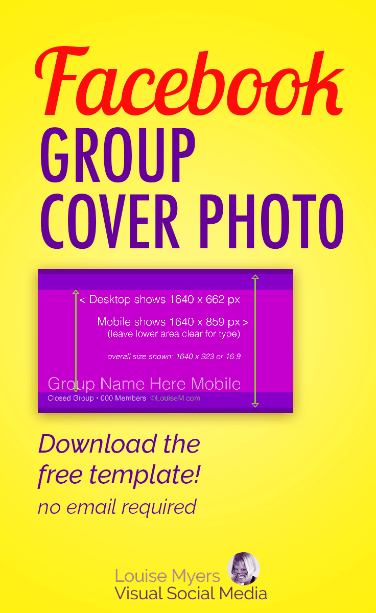 Facebook Group Cover Photo Size  Free Template Inside Facebook Banner Size Template