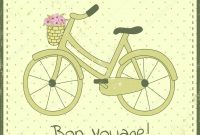 Fahrradpostkarte — Stockvektor © Losojospardos pertaining to Bon Voyage Card Template
