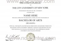 Fake College Degree Template  Sansurabionetassociats inside Masters Degree Certificate Template