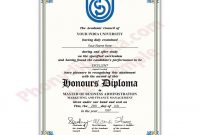 Fake Diploma From India University  Phonydiploma in Fake Diploma Certificate Template