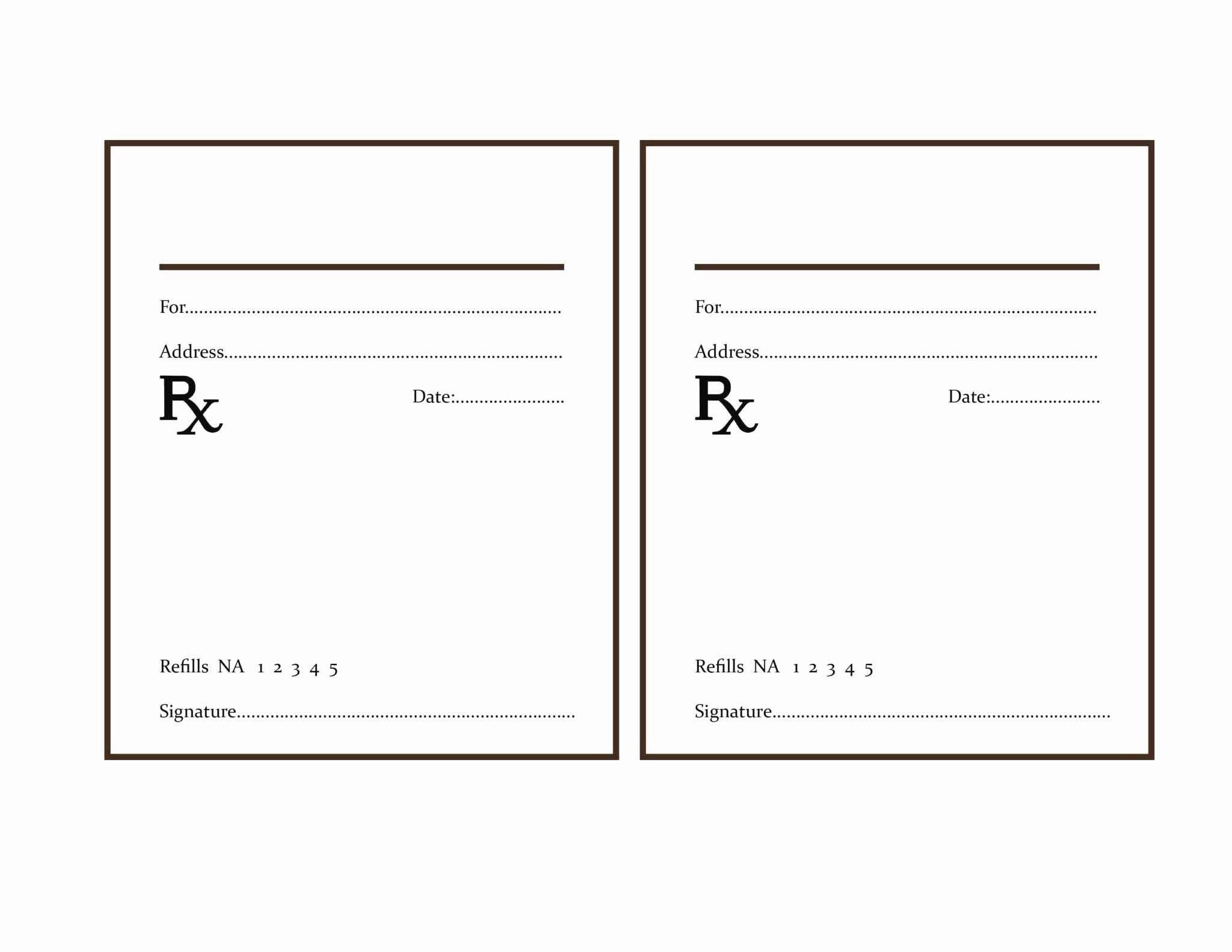 Fake Prescription Label Template  Template Modern Design For Prescription Labels Template