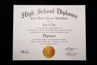 Fakehighschooldiplomatemplate  Jeffrey D Brammer  Fake High in Ged Certificate Template