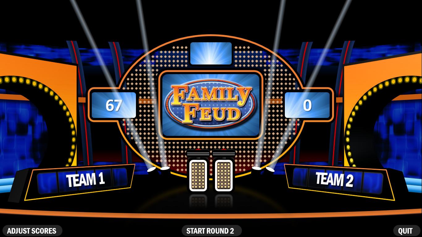 Family Feud  Rusnak Creative Free Powerpoint Games With Family Feud Powerpoint Template Free Download