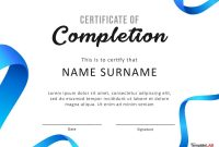Fantastic Certificate Of Completion Templates Word Powerpoint in Attendance Certificate Template Word