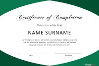 Fantastic Certificate Of Completion Templates Word Powerpoint in Certificate Of Completion Template Word