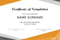 Fantastic Certificate Of Completion Templates Word Powerpoint inside Training Certificate Template Word Format