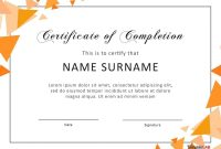 Fantastic Certificate Of Completion Templates Word Powerpoint regarding Certificate Of Participation Template Word