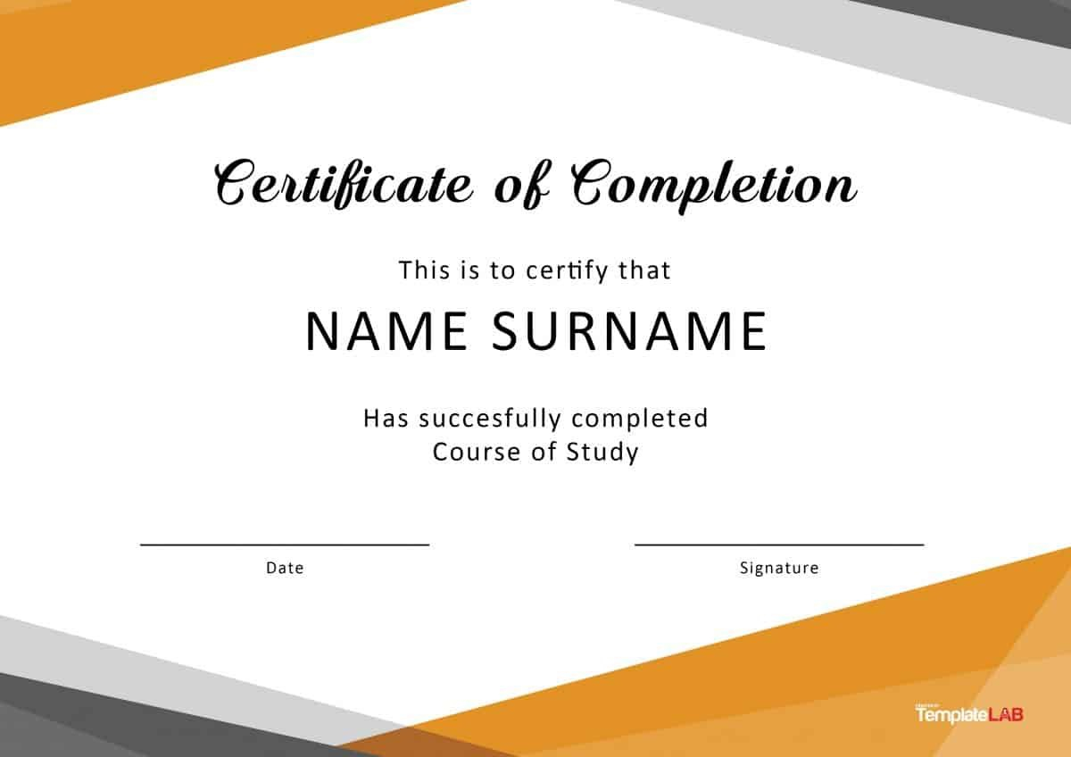 Fantastic Certificate Of Completion Templates Word Powerpoint With Certificate Of Completion Template Word