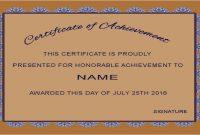 Farewell Certificate Template  Mandegar with Farewell Certificate Template