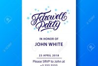 Farewell Party Hand Written Lettering Invitation Card Poster intended for Farewell Invitation Card Template