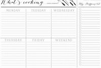 Fascinating  Day Meal Plan Template Templates Weight Loss Printable regarding 7 Day Menu Planner Template
