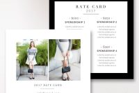 Fashion  Beauty Blogger Rate Card Template Stephanie Design pertaining to Advertising Rate Card Template