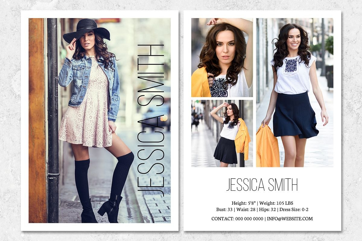 Fashion Model Comp Card Template With Regard To Model Comp Card Template Free