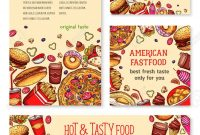 Fast Food Banner And Poster Template Set Design Royalty Free for Food Banner Template
