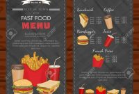 Fast Food Cover Design Template Fast Food Menu Vector Royalty Free throughout Fast Food Menu Design Templates