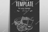 Fast Food Menu Design Template Hand Drawn Vector — Stock Vector with Fast Food Menu Design Templates