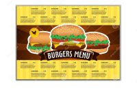 Fast Food Or Burgers Menu Design Template In A Size Brochure And pertaining to Fast Food Menu Design Templates