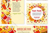 Fast Food Restaurant Banner And Poster Template Vector Image in Food Banner Template