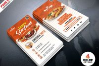 Fast Food Restaurant Business Card Psdpsd Freebies On Dribbble throughout Food Business Cards Templates Free
