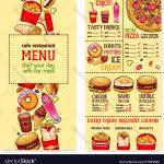 Fast Food Menu Design Templates