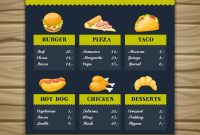Fast Food Restaurant Menu Template Royalty Free Vector Image with Fast Food Menu Design Templates