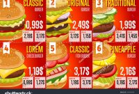 Fast Food Restaurant Menu Template Vector Stockvektorgrafik intended for Fast Food Menu Design Templates