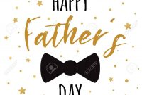 Fathers Day Banner Design With Lettering Black Bow Tie Butterfly in Tie Banner Template