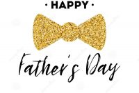 Fathers Day Card Design With Lettering Golden Bow Tie Butterfly with regard to Fathers Day Card Template