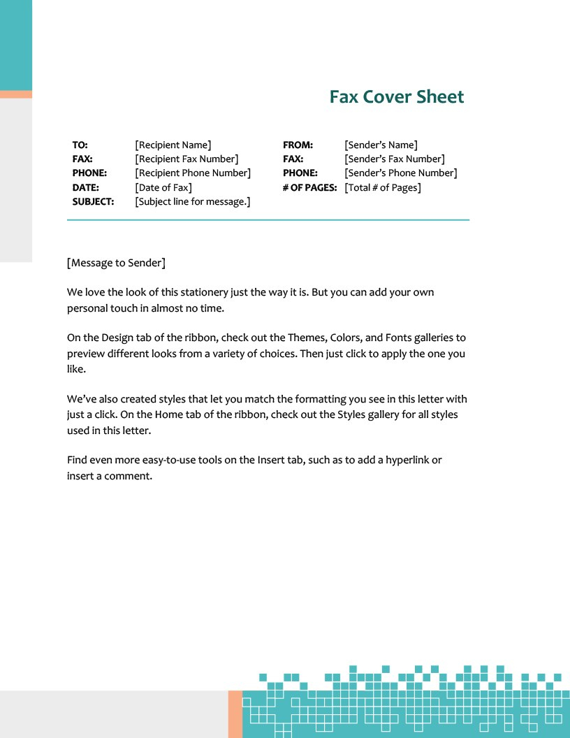 Fax Covers  Office Pertaining To Fax Cover Sheet Template Word 2010