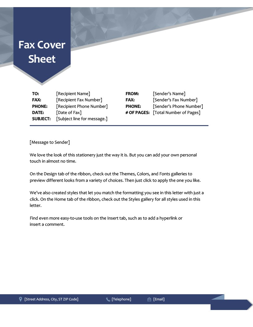 Fax Covers  Office Throughout Fax Cover Sheet Template Word 2010