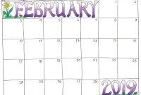 February  Printable Calendar For Kids February February intended for Blank Calendar Template For Kids