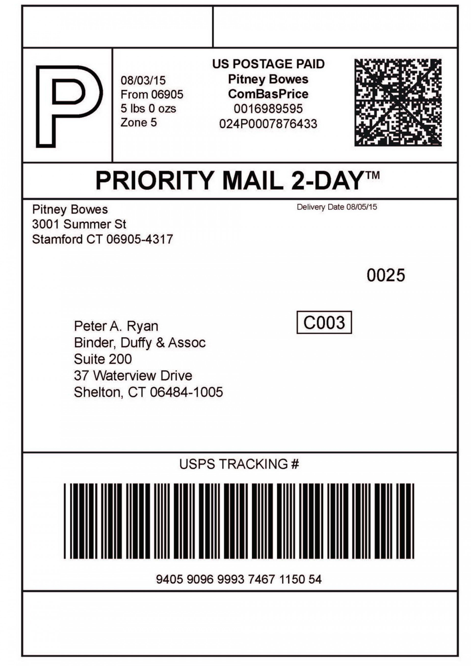 Ups Shipping Label Template - 10+ Professional Templates