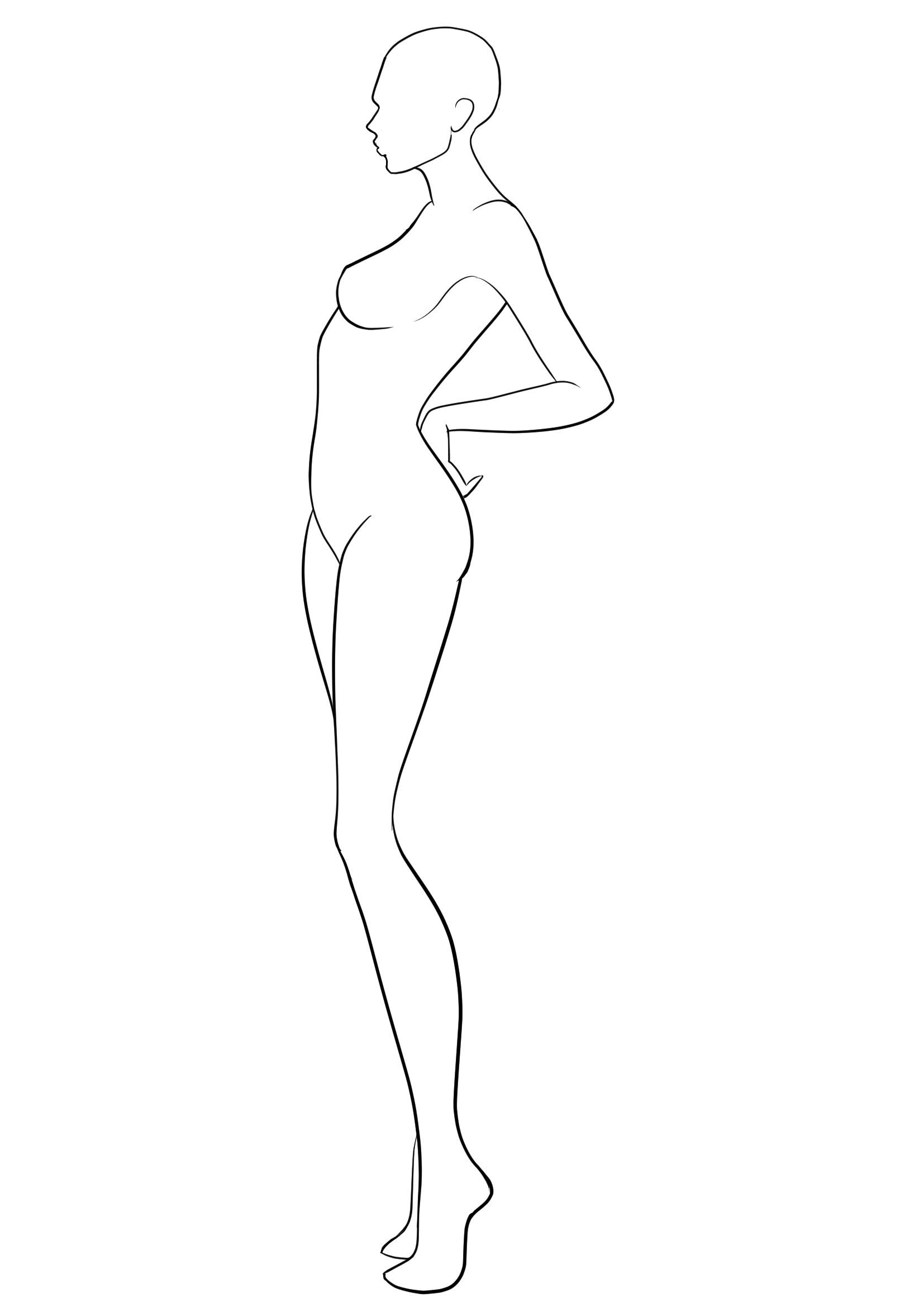 Figure Template   Figure Drawing  Figure Drawing Models Fashion With Blank Model Sketch Template
