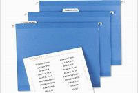 File Folder Tabs Template Free Pretty Hanging File Folder Label regarding Post It File Folder Labels Template