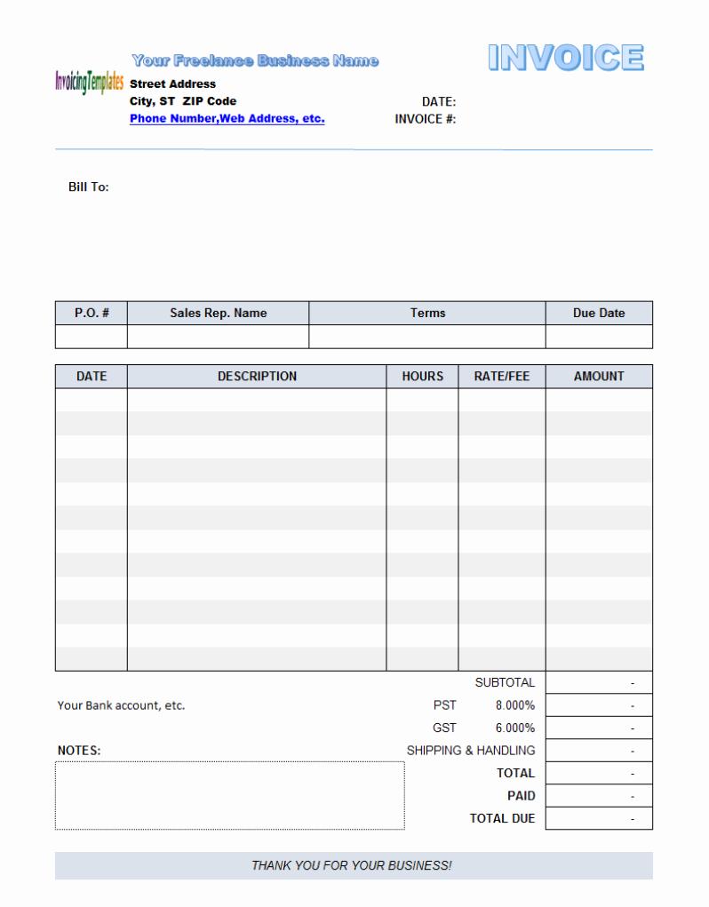 Fillable Invoice Template Pdf Then Free Fillable Invoice Template Throughout Fillable Invoice Template Pdf