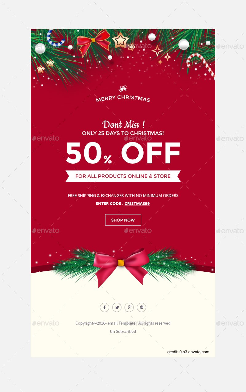 Finding The Right Holiday Greetings Email Template  Mailbird In Holiday Card Email Template
