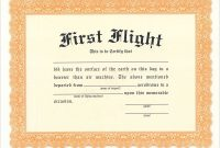First Flight Certificate  From Sporty's Pilot Shop with regard to Fit To Fly Certificate Template