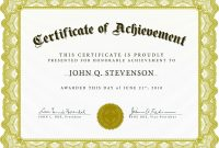 First Place Certificate Template Word  Certificatetemplateword within First Place Award Certificate Template