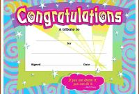 First Prize Winner Certificate Template Congratulations in Congratulations Certificate Word Template