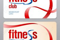 Fitness Club Membership Card Design Template Royalty Free Cliparts throughout Gym Membership Card Template