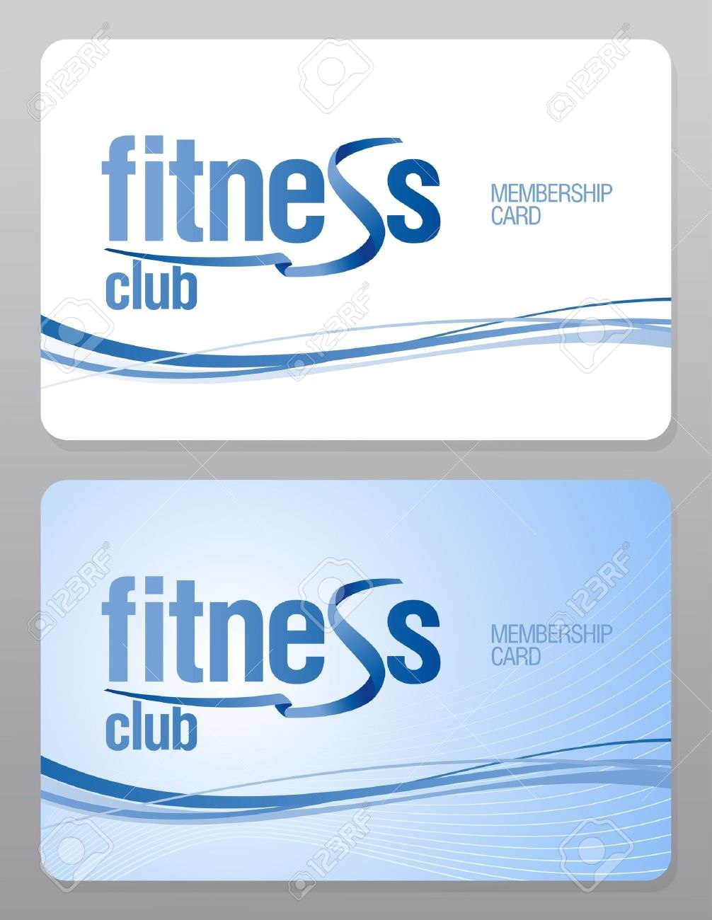 Fitness Club Membership Card Design Template Royalty Free Cliparts Throughout Template For Membership Cards