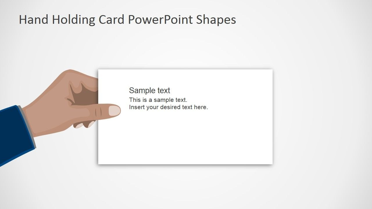 Flat Hand Thank You Slide Powerpoint Shapes  Powerpoint Shapes Throughout Powerpoint Thank You Card Template