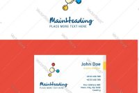 Flat Networking Logo And Visiting Card Template Vector Image with Networking Card Template
