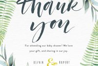 Floral Thank You  Dp  Baby Shower Thank You Cards for Thank You Card Template For Baby Shower