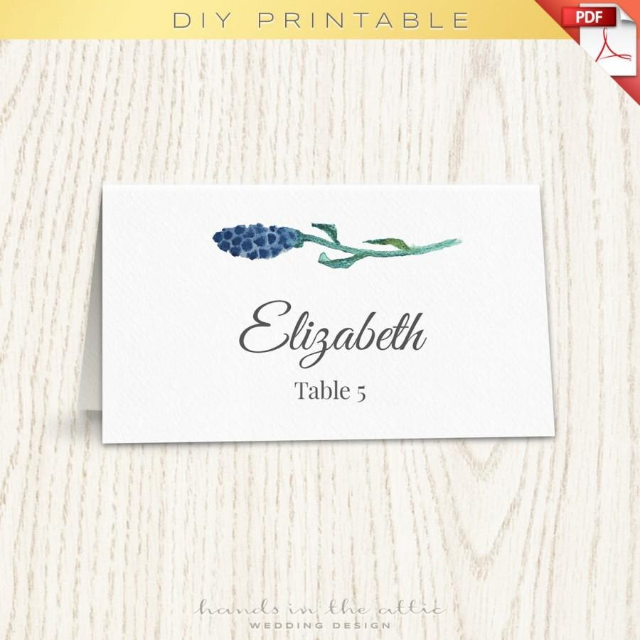 Floral Wedding Placecard Template Printable Escort Cards Wedding Throughout Printable Escort Cards Template