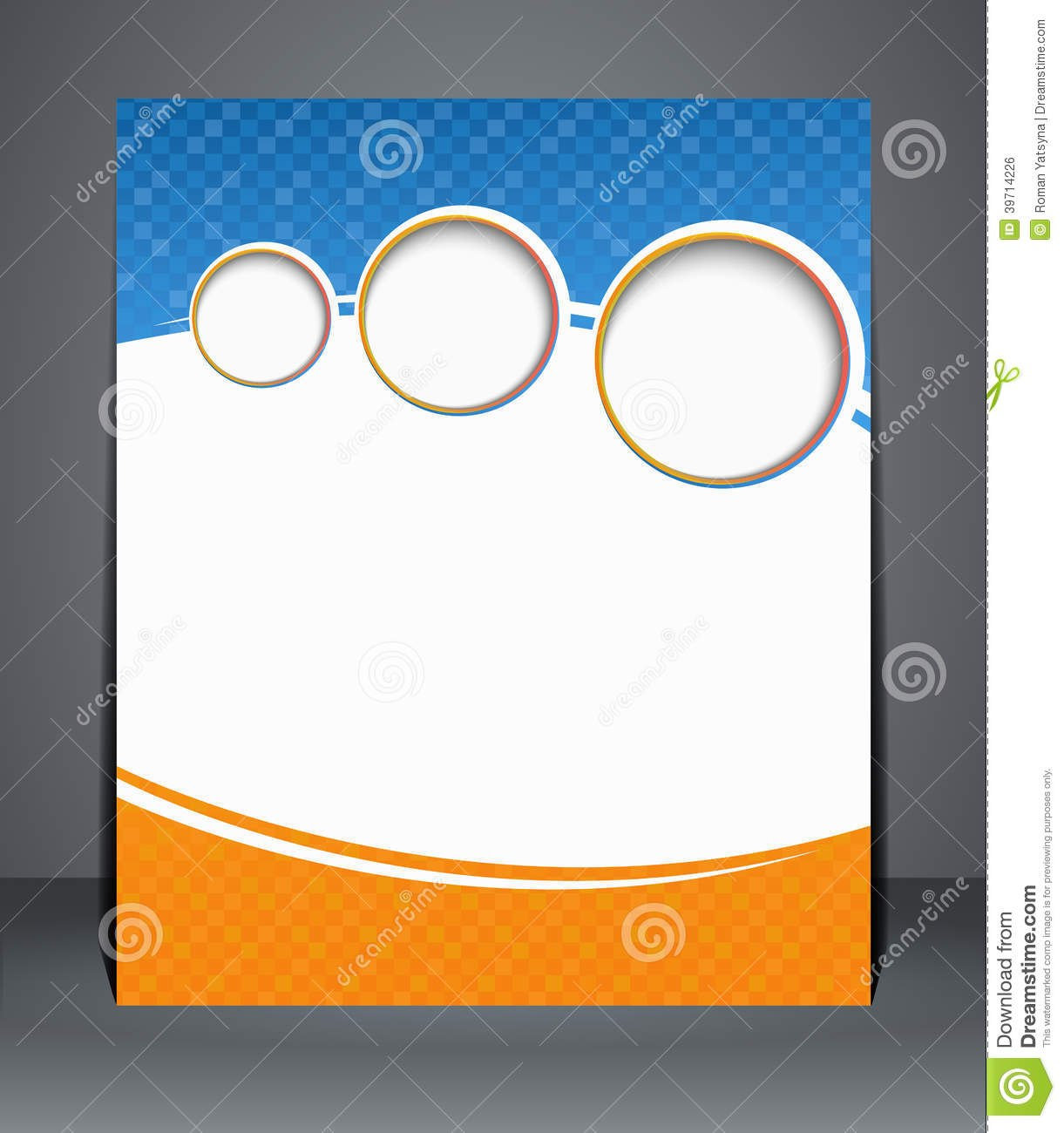 Flyer Design Template Or A Magazine Cover In Blu Stock Vector In Blank Templates For Flyers